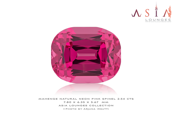 Tanzanian, Natural, Vivid Neon Pink Mahenge Spinel 2.54 cts - Asia Lounges