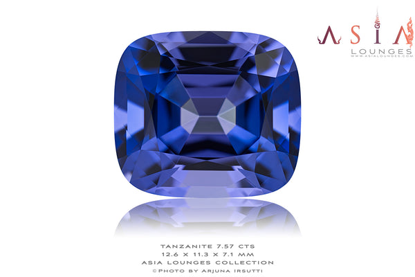 Superb 7.57 cts Cornflower Blue Tanzanite - Asia Lounges