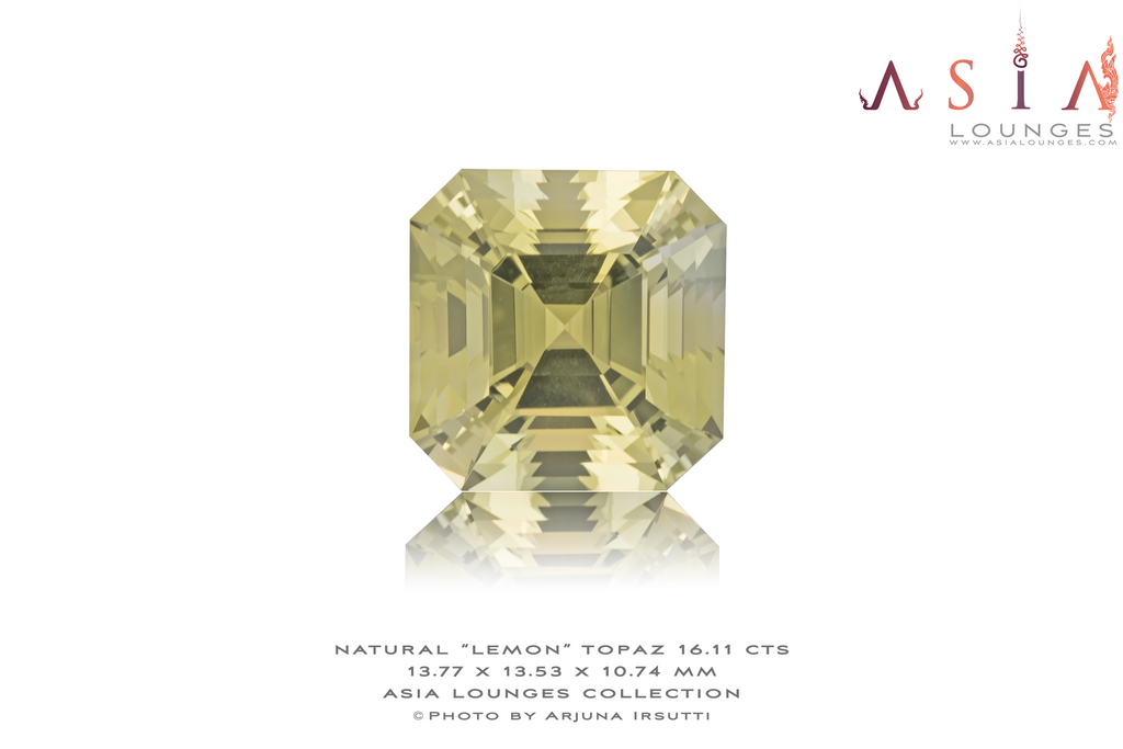 "Natural ""Lemon"" Topaz 16.11 cts - Asia Lounges"