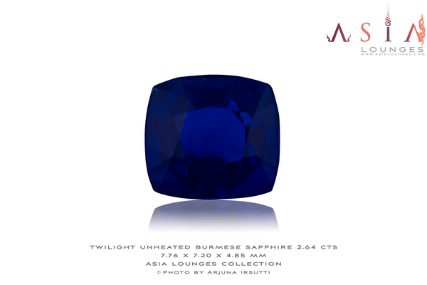 Burmese Unheated Twilight Blue Sapphire 2.64 cts - Asia Lounges