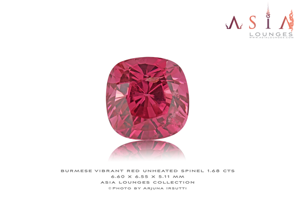 Burmese Vibrant Red Spinel 1.68 cts - Asia Lounges