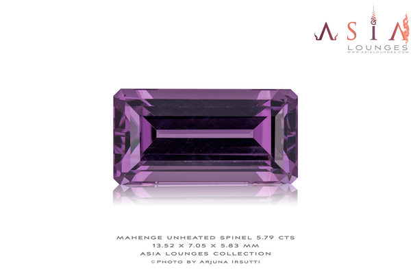 Tanzanian Natural Purple Spinel 5.79 cts - Asia Lounges