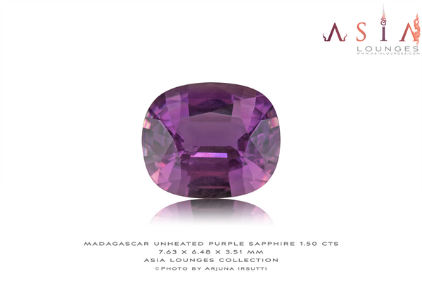 Unheated Pinkish Purple Madagascar Sapphire 1.50 cts - Asia Lounges