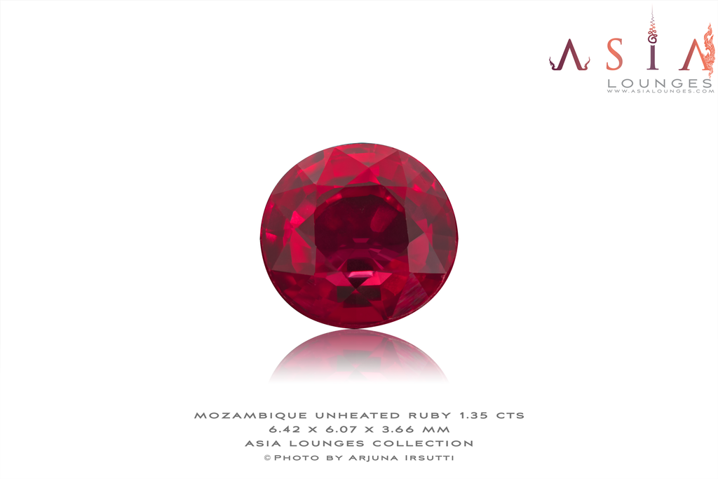 Mozambique natural unheated red ruby 1.35 cts - Asia Lounges
