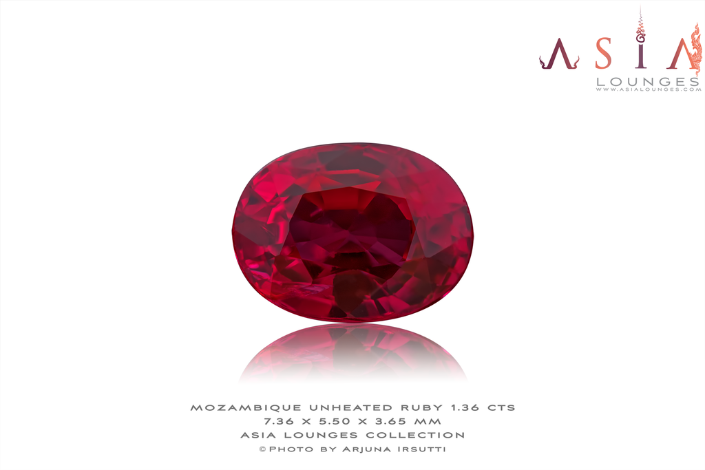 Mozambique Natural unheated Red Ruby 1.36 cts - Asia Lounges
