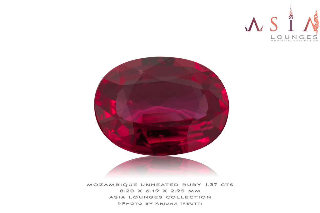 Mozambique Unheated Natural Red Ruby 1.37 cts - Asia Lounges