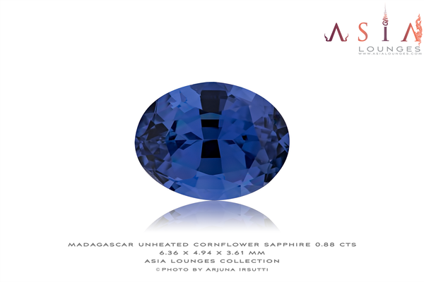 Unheated Madagascar Cornflower Blue Sapphire 0.88 cts - Asia Lounges