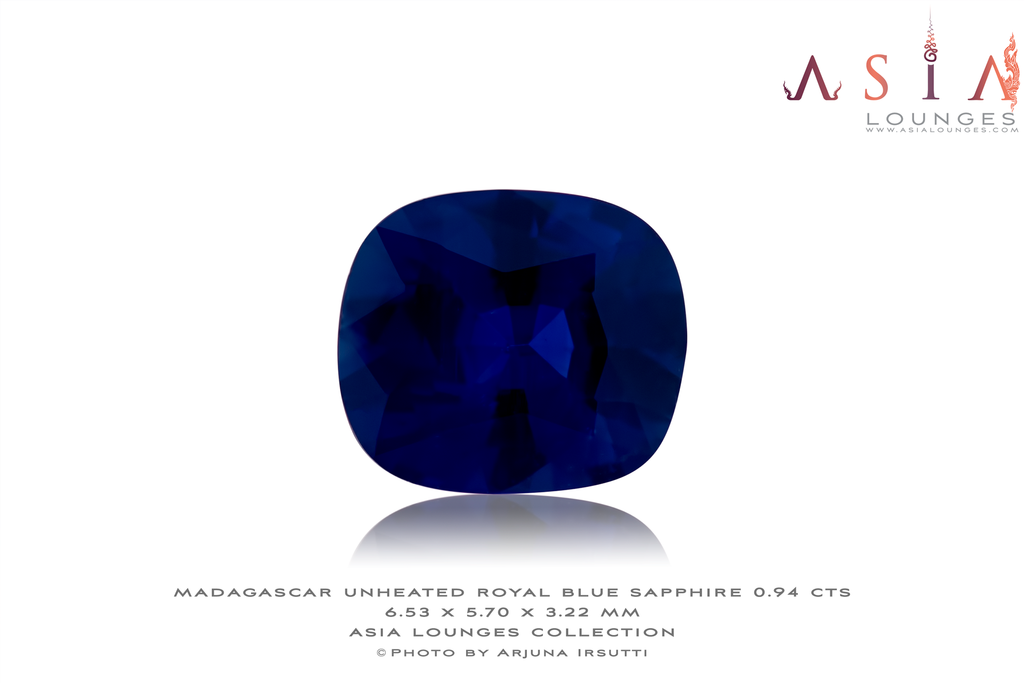 Unheated Madagascar Royal Blue Sapphire 0.94 cts