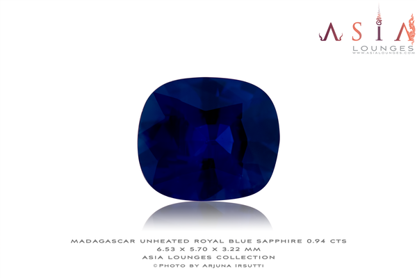 Unheated Madagascar Royal Blue Sapphire 0.94 cts - Asia Lounges