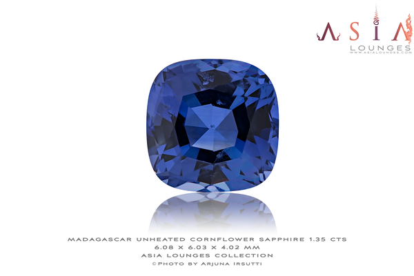 Unheated Cornflower Madagascar Sapphire 1.35 cts - Asia Lounges