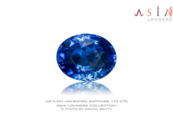 Natural Unheated Blue Ceylon Sapphire 1.73 cts - Asia Lounges