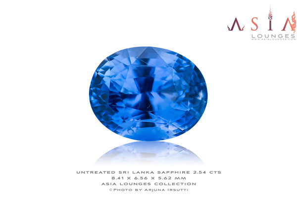 Sweet 2.54 cts Natural Untreated Cornflower Blue Sapphire - Asia Lounges