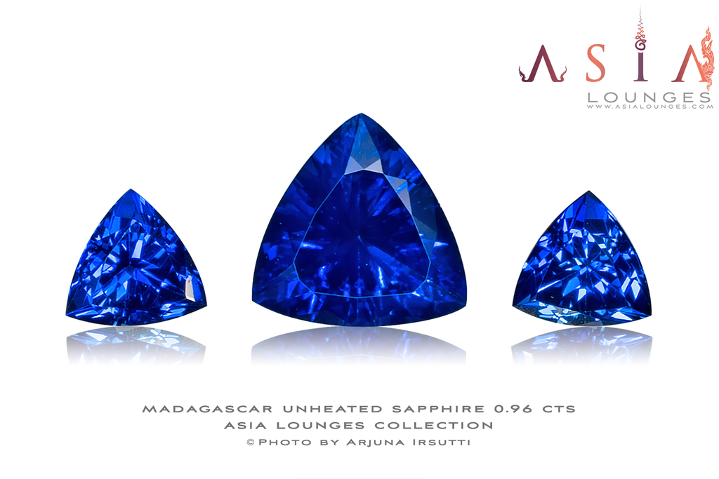 Unheated Madagascar Blue Sapphires 0.96 cts - Asia Lounges