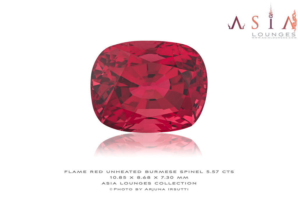 Flawless Natural Unheated Red Spinel 5.57 cts - Asia Lounges