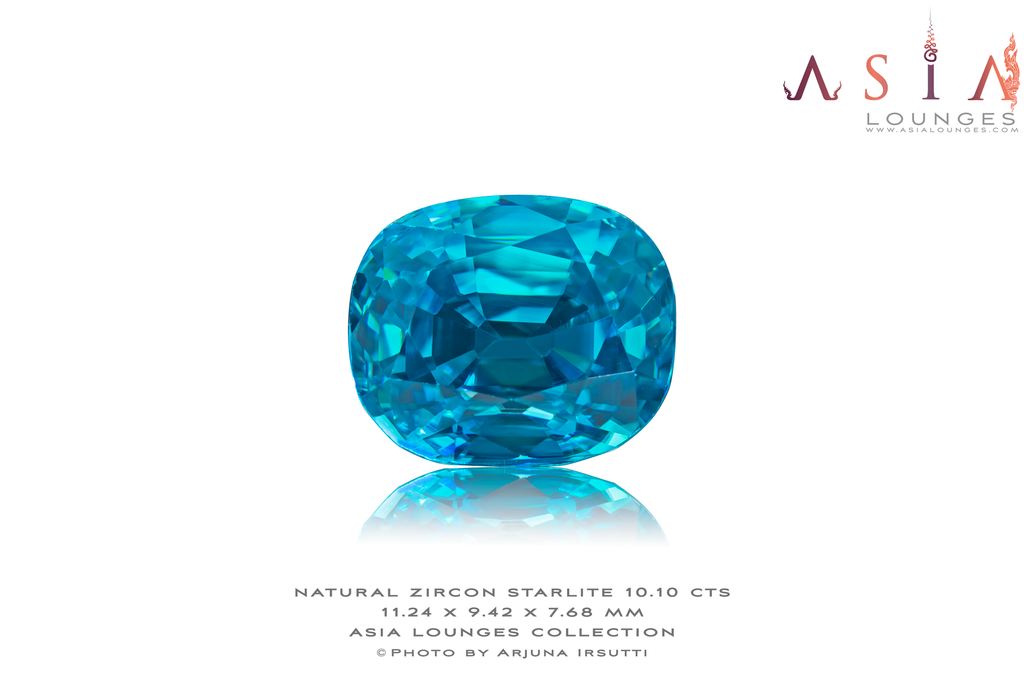 Starlite Blue Zircon 10.10 cts - Asia Lounges