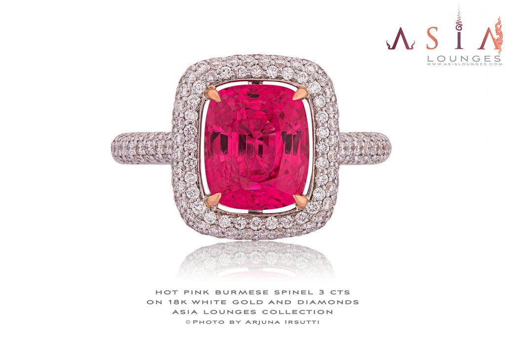 Delicious Burmese Hot Pink Spinel Ring