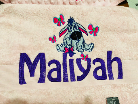 Name Towel with picture