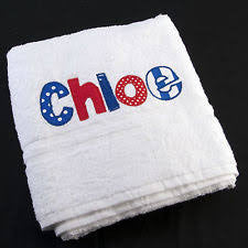 Applique Embroidered towels