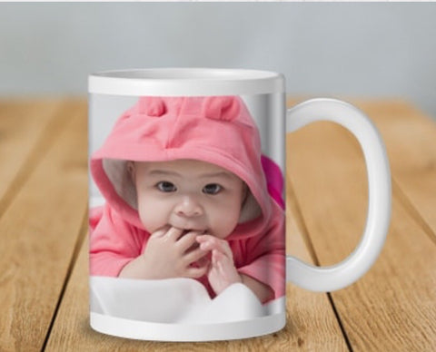 personalised Photo mugs plain