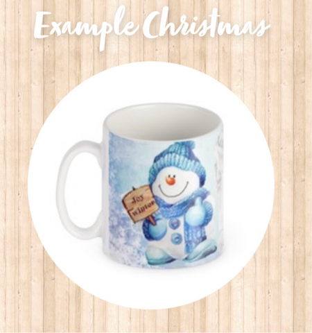 Christmas Personalised Photo Mugs