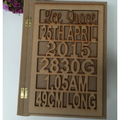 Large personalised keepsake box mdf