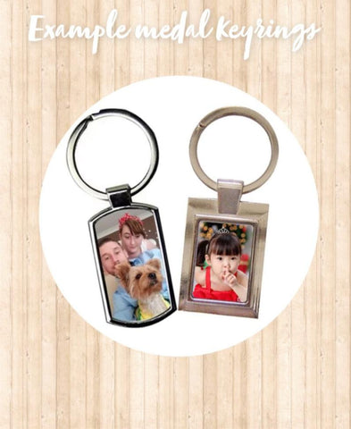 Personalised photo metal Keyring