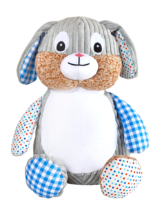 Blue patchwork bunny