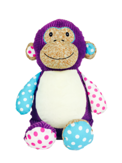 Purple Patchwork monkey