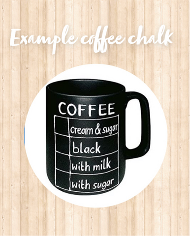 Chalk mugs check list