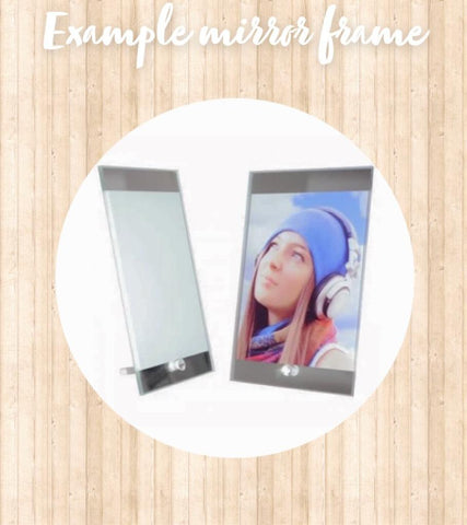 Personalised photo glass mirror frame