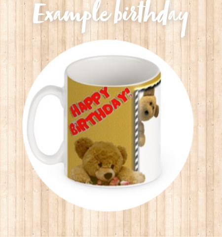 Birthday Personalised Photo Mugs