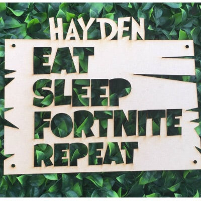 Personalised name fortnite MDF