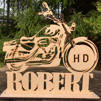 Personalised Harley motor bike MDF
