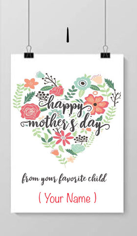 Mother's Day Quote canvas with name
