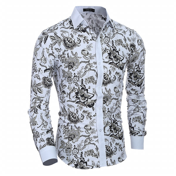 2017 New Classic Style Gentleman Casual Slim Long-Sleeved Shirt 5980
