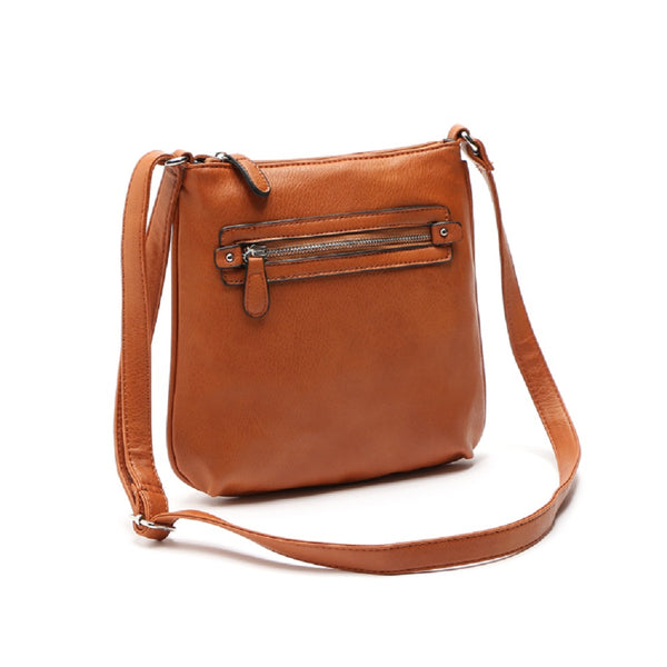 Casual Pu Leather Zip Women Messenger Bags Shoulder Bags 7140