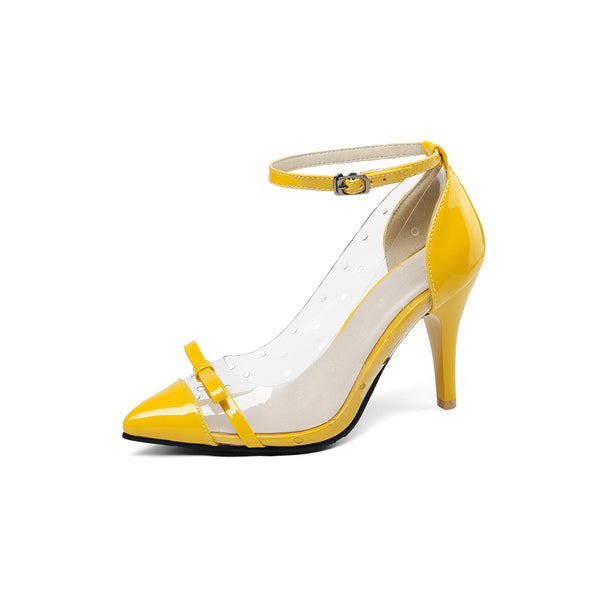Ankle Strap Knot High Heeled Shoes for Women