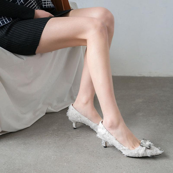 Lady Pointed Toe High Heel Sharp Shallow Woman Pumps Stiletto Heel Shoes