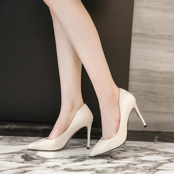 Lady Pointed Toe High Heeled Woman Pumps Stiletto Heel Shoes