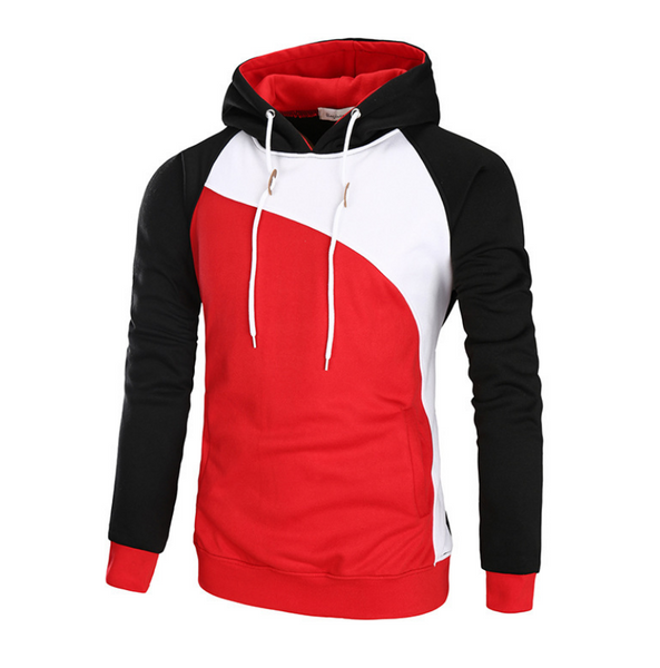 Color Block Raglan Sleeve Fleece Hoodie 3664