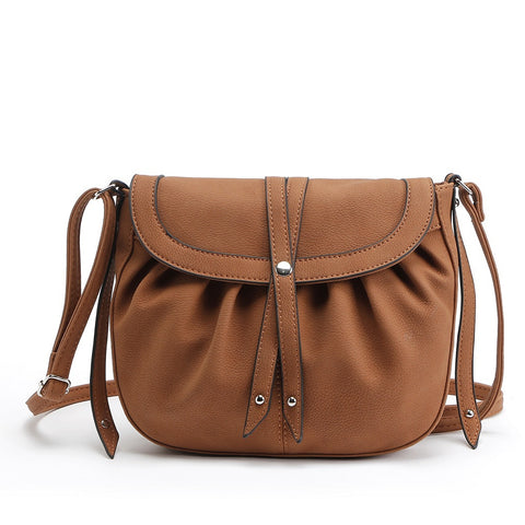 Vintae Ruffle Studded Crossbody Bags for Women 6135
