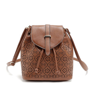 Hollow Out Shoulder Bucket Bag for Ladies 6108