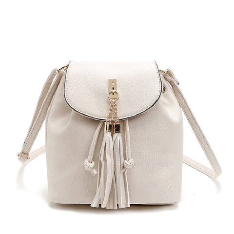 Tassel Women Pu Leather Buckle Shoulder Bags 3534