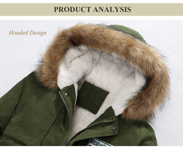 Casual Shoulder Mark Decoration Draw String Male Warm Hooded Coat 9737