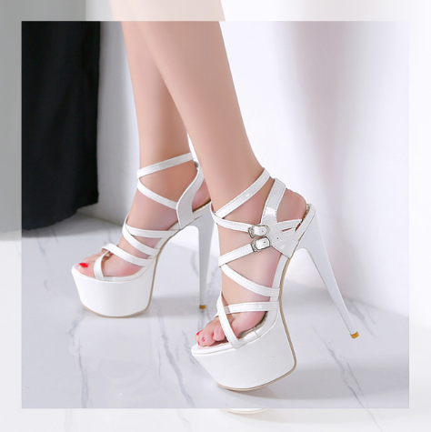 Gladiator Platform Sandals High Heels Shoes Woman 7487