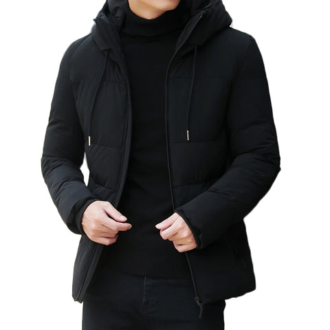 Men's Fashion Solid Color Trend Casual Down Coat