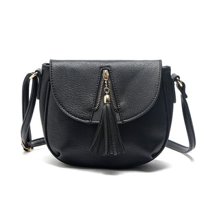 Vintage Pu Leather Tassel Crossbody Bags for Women 3060