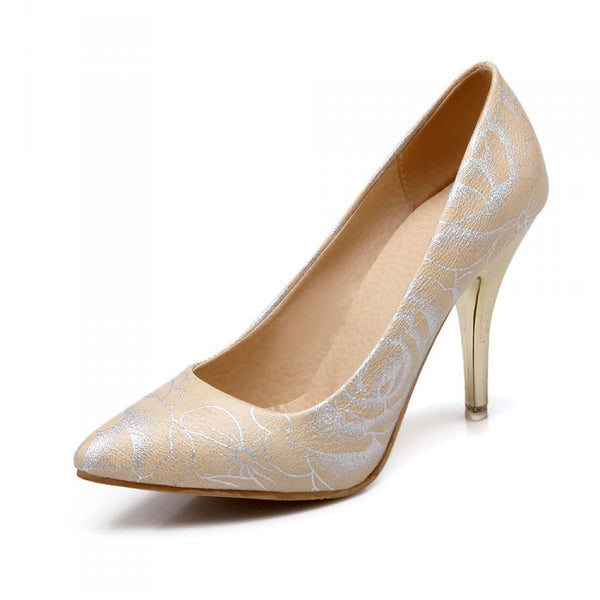 Pointed Toe High Heels Women Wedding Shoes 4143