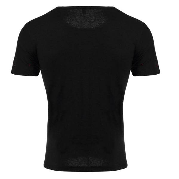 Round Neck Short Sleeve Printed Trendy T-Shirt for Men 7274