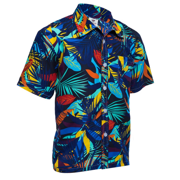 Trendy Turn Down Collar Short Sleeve Full Print Loose-Fitting Beach Shirt for Men 8285